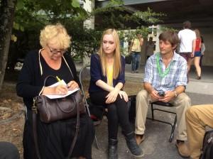 Diane Berbain i samtale med Eva Joly