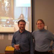 Gjennomslag: Øystein Bønes (bystyrerepresentant) og Eline Haakestad (midl. gruppesekretær) var på plass i og utenfor bystyresalen da De Grønne fikk sitt gjennomsalg nr. 100.